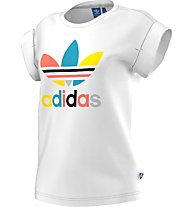 Adidas Originals Bf Roll Up Tee T-Shirt fitness donna, White