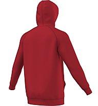 Adidas Originals Hoodie Trefoil - felpa con cappuccio, Red