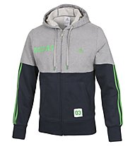 Adidas Hooded Track Top Logo 2 FZ Sweatshirtjacke Herren, Grey/Blue/Green