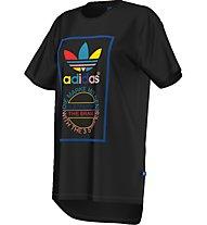 Adidas Originals Long Back Tee Damen T-Shirt Fitness Kurzarm, Black