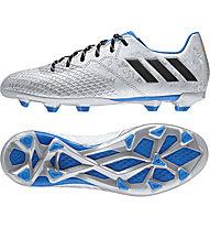 Adidas Messi 16.3 FG Jr - scarpa da calcio bambino, Silver/Blue