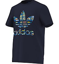 Adidas Originals Trefoil Tee - T-Shirt, Blue