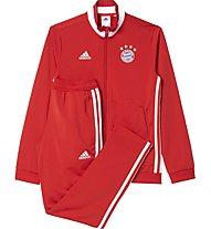 Adidas Tracksuit FC Bayern Monaco Youth - tuta calcio bambino, True Red/White