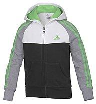 Adidas Tracksuit LPK Boys HD TS Trainingsanzug Jungen, White/Grey/Black/Lime