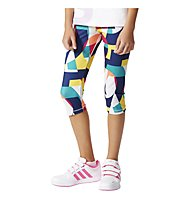 Adidas YG W F 3/4 Tight Mädchen, Multicolour Allover Print