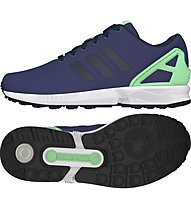 Adidas Originals Zx Flux W Scarpe tempo libero Donna, Blue/Green