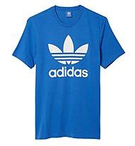 Adidas Originals Originals Trefoil T-Shirt, Light Blue