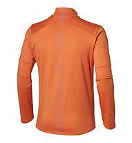 Asics Lite Show LS 1/2 Zip - maglia a maniche lunghe running, Orange