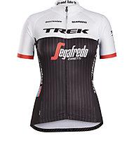 Bontrager Trek/Segafredo Repl. Jersey W Maglia Bici Donna, White/Black
