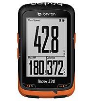 Bryton Rider 530T GPS-Radcomputer + Herzfrequenzsensor und Trittfrequenzsensor, Black