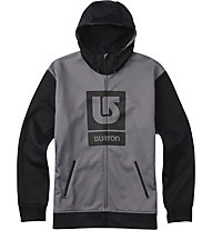 Burton Giacchino con zip Bonded Full-zip Hoodie, Monument Heather/True Black
