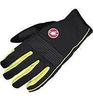 Castelli Chiro 3 Glove WINDSTOPPER Rad-Handschuhe, Black/Yellow Fluo