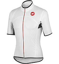 Castelli Sottile Due Shorty Giacca a vento a manica corta, Transparent/Red Zip