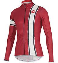 Castelli Storica Jersey FZ - maglia bici a manica lunga, Ruby Red/Cream