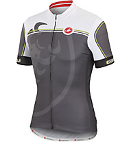 Castelli Velocissimo Giro Jersey FZ, Antracite/White/Lime