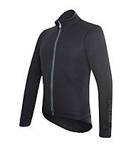 Dotout Race Wool Jacket, Black/Light Blue