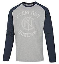 Everlast Light Jersey Mano Carbonio Maglia maniche lunghe fitness, Grey/Blue