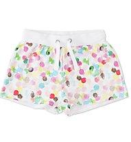 Everlast Short Felpina Multicolor Pantaloncini Bambina, White/Multicolored