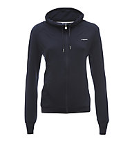 Freddy Sweat Stretch Fleece felpa con zip donna, Dark Blue