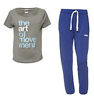 Freddy Pantaloni da ginnastica + T-Shirt donna, Blue/Grey