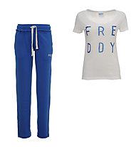 Freddy Damenkomplet: Training Color Hose + Shirt, Navy/White