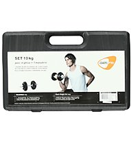 Get Fit 10 Kg Set + Plastic Box, Black/Chrome