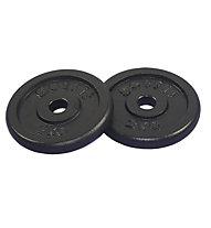 Get Fit Black Plate 2 x 2 kg, Black