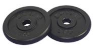 Sportarten > Fitness > Zubehör Kraftsport >  Get Fit Black Plate 2 x 2 kg