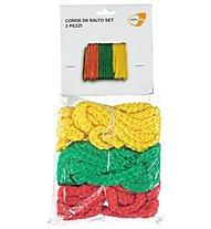 Get Fit Corda da salto set 3 pezzi, Yellow/Green/Red