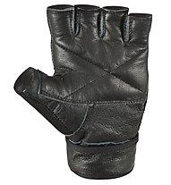 Get Fit Leather Fitness Gloves, Black