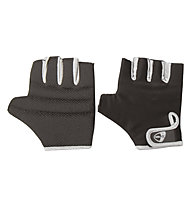Get Fit Lycra Weight Lifting Glove, Black/Silver