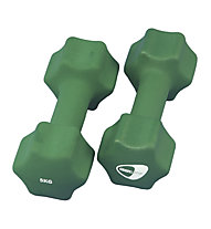 Get Fit Neoprene Dumbbell pesi, Green