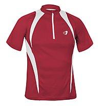 Get Fit Runningshirt C/Zip M, Red/White