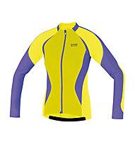 GORE BIKE WEAR Oxygen FZ Lady Jersey long, Yellow
