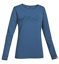 Kaikkialla Suvi Shirt Langarm Damen, Maroccan Blue