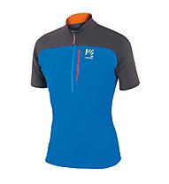 Karpos Roccia Zip Jersey T-Shirt Trekking, Blue/Anthracite