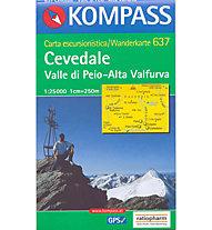 Kompass Carta N° 637 1:25.000, 1:25.000