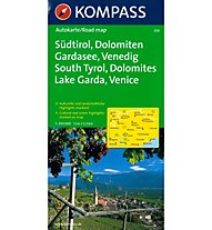 Kompass Karte N. 259 Sudtirol, Dolomiten, Gardasee, Venedig, German/English