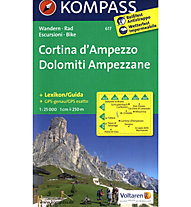 Kompass Karte Nr. 617 Cortina D´Ampezzo - Dolomiti Ampezzane, 1: 25.000