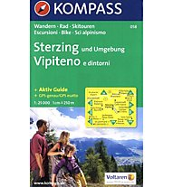 Kompass Karte Nr. 058 Sterzing und Umgebung, 1:25.000