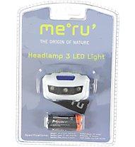Meru Headlamp 3 LED Light, White/Blue/Black