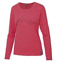 Meru Lidingö Damen T-Shirt Langarm, Red