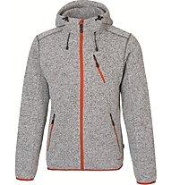 Meru Mallebo giacca con cappuccio, Grey Melange/Roisboos