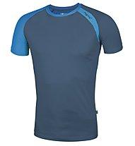 Meru New Speed Techno T-Shirt, Petrol/Royal Blue