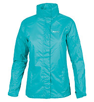Meru Women Rain Jacket Giacca antipioggia donna, Water Blue