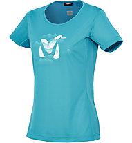 Millet Ld Fog Ts SS T-Shirt trekking Donna, Maui Blue