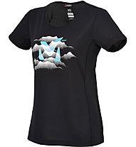 Millet Ld Fog Ts SS T-Shirt trekking Donna, Noir