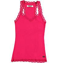 Mistral Pretty Lace On Border Top, Fuxia