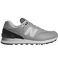New Balance Synthetic Leather W Scarpe Tempo Libero Donne, Grey/Black