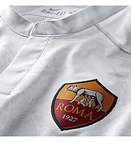 Nike 2015/16 A.S. Roma Stadium Away Herren Fußballtrikot, F. White/Kumquat/T. Red